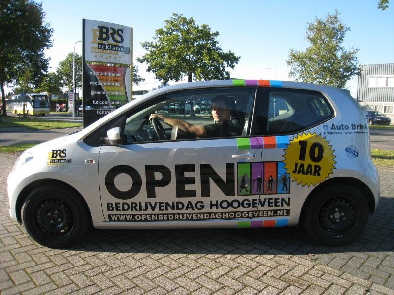 Autoreclame in Assen