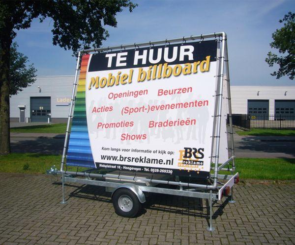 Reclame aanhanger BRS Reclame Hoogeveen