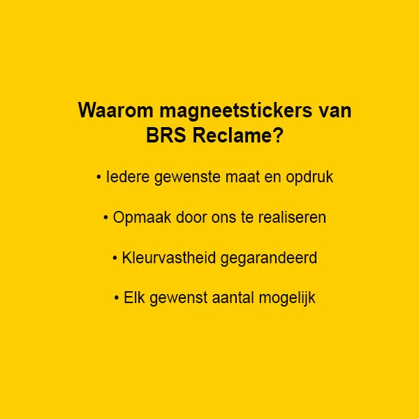 Magneet stickers
