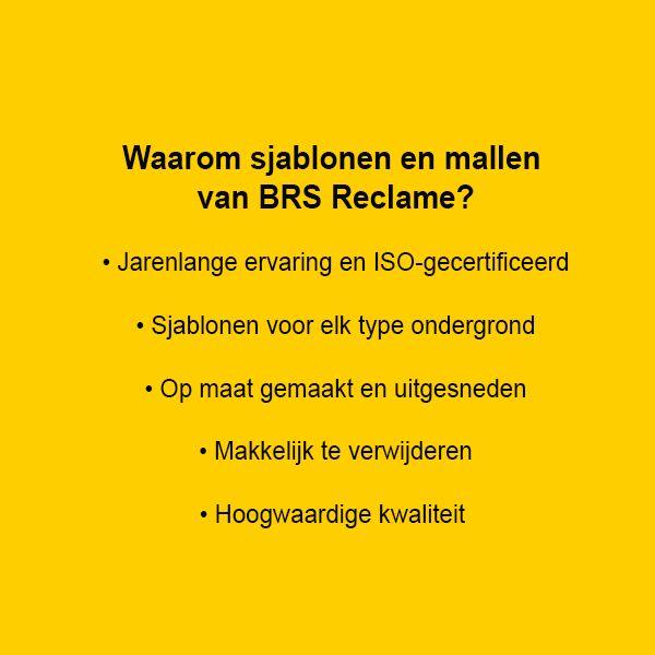 Verf sjablonen en mallen - BRS Reclame Hoogeveen