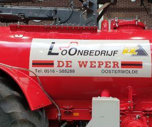 Bedrijfs-reclame-tractor